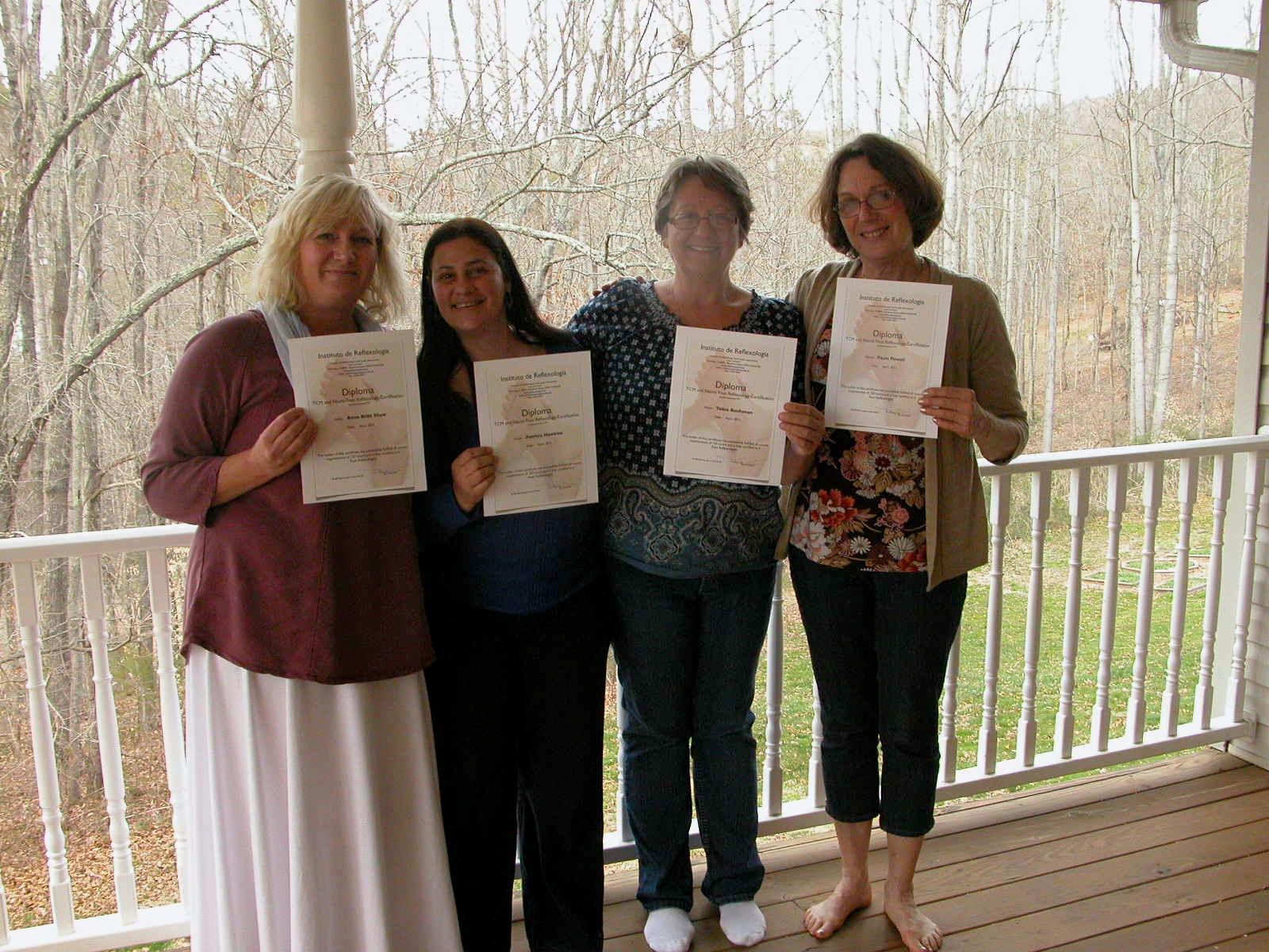 New Reflexology Certificants 4/13